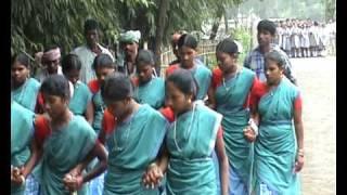 getlinkyoutube.com-Santali tribal dance welcome, Barharwa, Jharkhand, India