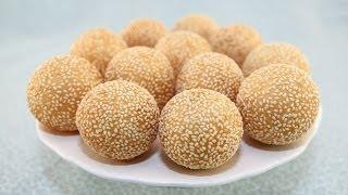 getlinkyoutube.com-Sesame Balls Part 2:  Making the Dough (Banh Cam)