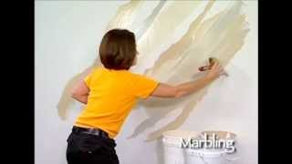 getlinkyoutube.com-Marbling How To Faux Finish Painting by The Woolie (How To Paint Walls) #FauxPainting