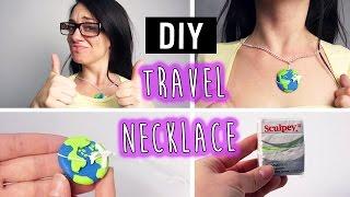 getlinkyoutube.com-DIY Polymer Clay Travel Necklace