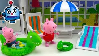 getlinkyoutube.com-Peppa Pig Casa de Vacaciones Holiday Sunshine Villa Playset - Juguetes de Peppa Pig