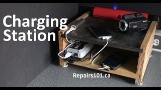 getlinkyoutube.com-Tabletop Electronics Charging Station - How To Build