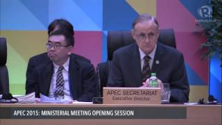 getlinkyoutube.com-APEC 2015: Ministerial Meeting opening session