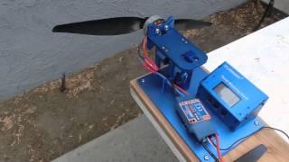 getlinkyoutube.com-Yuneec Q500 Motor & Prop Thrust and Amp Draw Tests
