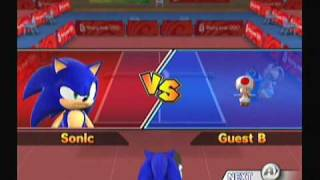 getlinkyoutube.com-Mario and Sonic at the Olympics: Table Tennis Event (1/3)