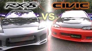 getlinkyoutube.com-[ENG CC] Seeker Civic EG6 vs. Fujita RX-8 Touge Battle HV76