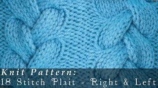 getlinkyoutube.com-18 Stitch Plait { Knit }