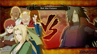 getlinkyoutube.com-Naruto Ultimate Ninja Storm 3 Tsunade (Five Kage) Vs Madara Uchiha S-Rank Hero (English)