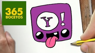 getlinkyoutube.com-COMO DIBUJAR LOGO YAHOO KAWAII PASO A PASO - Dibujos kawaii faciles - How to draw a LOGO YAHOO