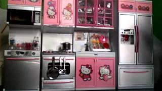 getlinkyoutube.com-#Hello kitty modern kitchen .cooking toys