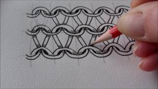 How to draw tanglepattern Knyt and Nitruly