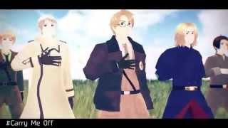 getlinkyoutube.com-【APヘタリアMMD】Carry Me Off 【連合】