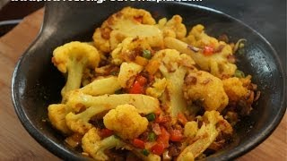 getlinkyoutube.com-Ethiopian Food - Cauliflower & Ginger Vegan Tibs Recipes - Amharic English - Abeba Gomen