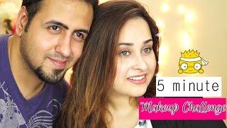 getlinkyoutube.com-Hubby Challenged Me |  5 minute Makeup Challenge
