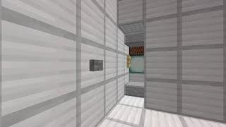 Minecraft 扉のあるCUDピストンエレベーター