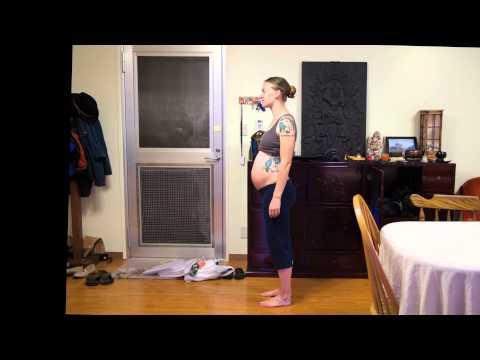 Creative  fast paced pregnancy video is a hit on the web