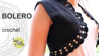 getlinkyoutube.com-Tutorial Bolero Crochet o Ganchillo en Español