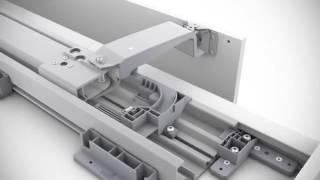 getlinkyoutube.com-Hettich InLine XL sliding door system  Preparation, installation and adjustment