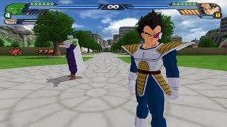 getlinkyoutube.com-Fusion Piccolo and Vegeta with the potaras (Vegeccolo ?) in DBZ Budokai Tenkaichi 3 (Fusion mod)