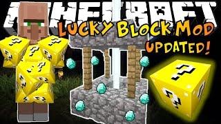 getlinkyoutube.com-Minecraft: LUCKY BLOCK MOD UPDATED! - Lucky Villagers, Wishing Wells & More!