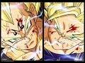 SSJ2 Goku vs Majin Vegeta Full Fight Alternate Music HD