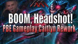 getlinkyoutube.com-BOOM, Headshot - New Caitlyn Gameplay - PBE - League of Legends