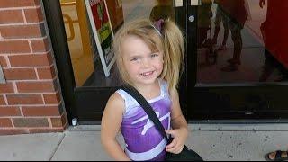 getlinkyoutube.com-Wearing Her New Bratayley Leotard to Gymnastics Class!