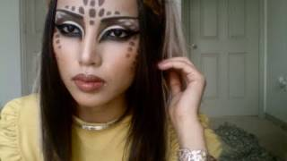 getlinkyoutube.com-Katy Perry's E.T Music Videos Alien/Deer Make-up Tutorial !