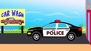 getlinkyoutube.com-Police Car Wash | videos For Children | videos for kids