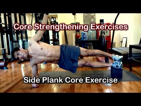 Core Strengthening Exercises 7 - Side Plank Hip Abduction Exercises