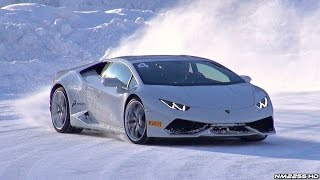 getlinkyoutube.com-Lamborghini Huracán Doing Donuts and Drifting in the Snow!