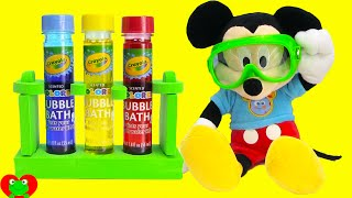 getlinkyoutube.com-Mickey Mouse Clubhouse Fun and Crayola Color Lab