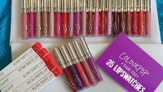NEW COLOURPOP COSMETICS ULTRA MATTE LIQUID LIPSTICKS ALL 25 SHADES LIP SWATCHES + FULL REVIEW
