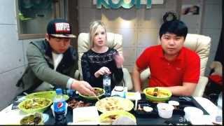 getlinkyoutube.com-[2] 조세핀(josefin)과 함께 족발&중국음식 먹방 - KoonTV