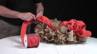 getlinkyoutube.com-Deco Poly Mesh Make A Wreath Video