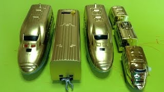 getlinkyoutube.com-ダイソープチ電車シリーズのドクターイエローを金色に塗ってみました②