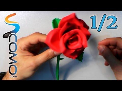 Hacer una Rosa con Goma Eva (1/2)