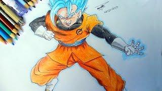 getlinkyoutube.com-Drawing Vegetto SSGSS - Desenhando Vedito Super Saiyajin Deus Azul