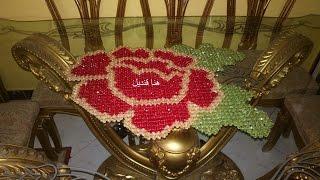 getlinkyoutube.com-اسهل طريقه لعمل مفرش الوردة المجسمه بالخرزالجزء االثالث مع هنا قنديل Mattress beads Rose