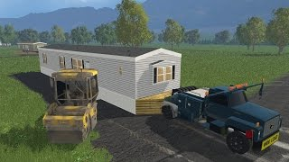 getlinkyoutube.com-Farming Simulator 15 Lawn Care Construction Ep #7 Mobile Home Driveway