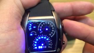 getlinkyoutube.com-Reloj LED ULTRABYTE VELOCIMETRO (Demostración)