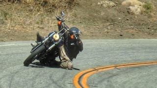getlinkyoutube.com-Mulholland Riders 9/2015 - Doggy Two-Up, Harley Knee Drag, Chopper , Supermoto