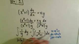 getlinkyoutube.com-Solving Separable First Order Differential Equations - Ex 1
