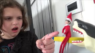 "getlinkyoutube.com-Shark Attacks Elf On A Shelf ""Toy Freaks Love Santa Claus & Sharks"""