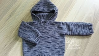 getlinkyoutube.com-Tutorial Jersey Fácil Crochet o Ganchillo Bebé Sweater Baby