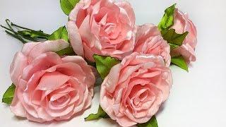 getlinkyoutube.com-Интерьерная роза из атласной ленты