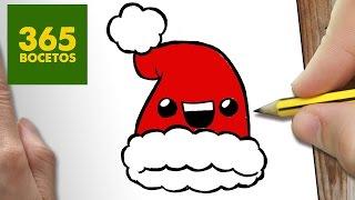 getlinkyoutube.com-COMO DIBUJAR UN GORRO PARA NAVIDAD PASO A PASO: Dibujos kawaii navideños - How to draw a hat