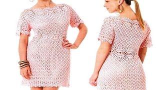 getlinkyoutube.com-Vestidos De Mujer Tejidos a Crochet o Ganchillo  ( los mejores diseños )