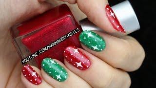 getlinkyoutube.com-Easy Starry Christmas Nail Art