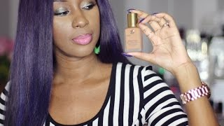 getlinkyoutube.com-Estee Lauder Double Wear Foundation|on dark skin